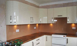 Tinted Glass Splashback